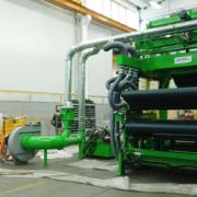 Roll up machine - glass wool