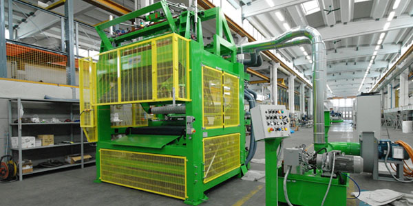 Roll up machine - glass wool