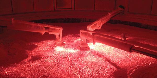 Forno di fusione elettrico lana di vetro
