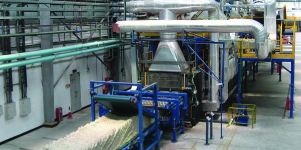 forno di polimerizzazione lana di roccia