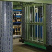 Pareti mobili per produzione lana di vetro